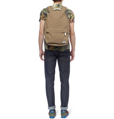 Porter-Yoshida & Co Beat Leather-Trimmed Cotton-Canvas Backpack