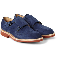 Church's Kelby Double Monk-Strap Suede Brogues