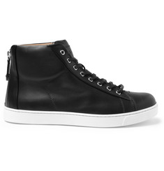 Gianvito Rossi Leather High Top Sneakers