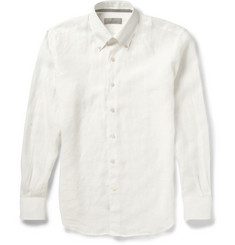 Canali Button-Down Collar Linen Shirt