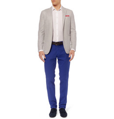 Canali Tapered-Fit Cotton-Blend Trousers