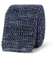 Canali Knitted Silk and Linen-Blend Tie