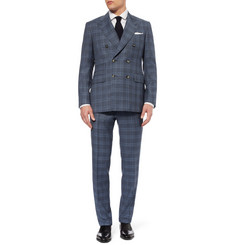 Canali Taormina Double-Breasted Check Wool Suit