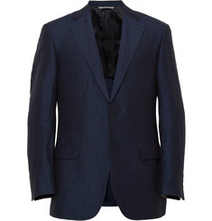 Canali Sienna Linen and Silk-Blend Blazer