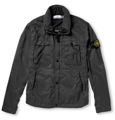 Stone Island Brushed-Twill Rain Jacket