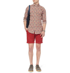 Incotex Slim-Fit Stretch-Cotton Shorts