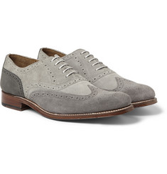 Grenson Dylan Suede and Nubuck Longwing Brogues