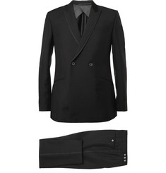 Kilgour Black Mohair and Wool-Blend Tuxedo
