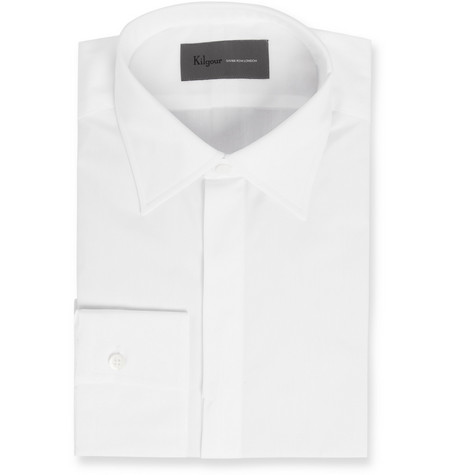 Kilgour White Swiss Cotton Shirt