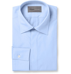 Kilgour Blue Cotton-Poplin Shirt