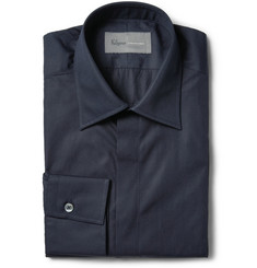 Kilgour Navy Cotton-Poplin Shirt