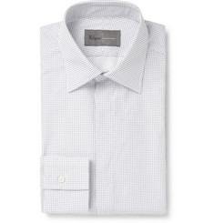 Kilgour White Spot-Print Cotton Shirt