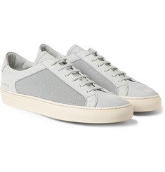 Common Projects Achilles Leather and Mesh Low Top Sneakers
