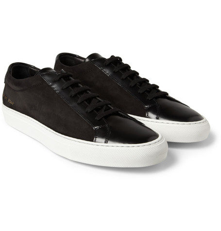 Common Projects Achilles Leather and Suede Low Top Sneakers