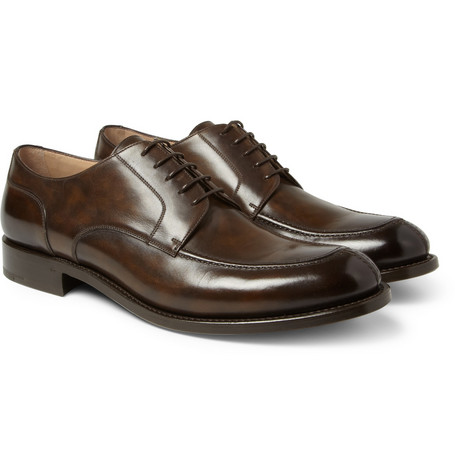 O'Keeffe Algy Hand-Polished Leather Derby Shoes