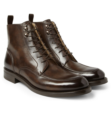 O'Keeffe Hand-Polished Leather Boots