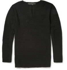 The Elder Statesman Cashmere Henley Sweater