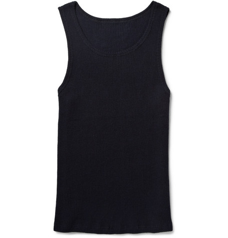 The Elder Statesman Ribbed Cashmere Vest