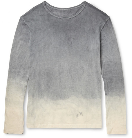 The Elder Statesman Dyed Cotton and Cashmere-Blend T-Shirt