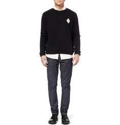 The Elder Statesman Diamond-Intarsia Cashmere Sweater
