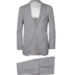 Hackett Grey Striped Three-Piece Wool Suit