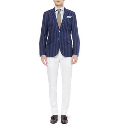 Hackett Slim-Fit Striped Linen and Wool-Blend Blazer