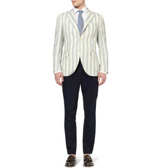Hackett Slim-Fit Striped Wool Blazer