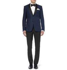 Hackett Slim-Fit Wool and Mohair-Blend Tuxedo Trousers