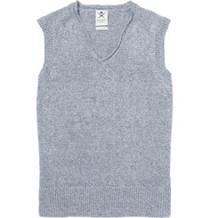 Hackett Sleeveless V-Neck Linen Sweater