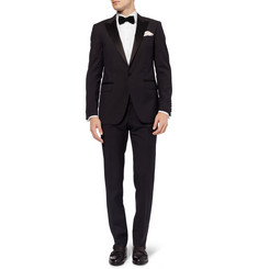 Hackett White Cotton Tuxedo Shirt