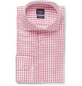 Hackett - Pink Slim-Fit Gingham Check Cotton Oxford Shirt
