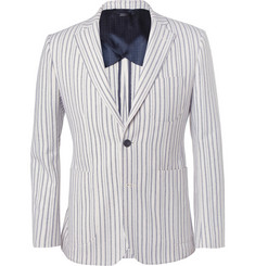 Hardy Amies Slim-Fit Striped Cotton Blazer