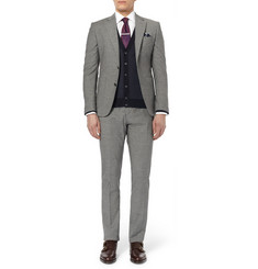 Hardy Amies Slim-Fit Check Wool-Blend Trousers