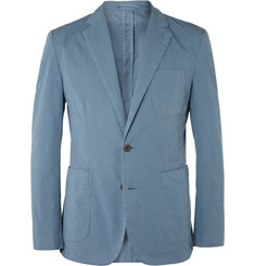 Hardy Amies Unstructured Washed Cotton-Twill Blazer