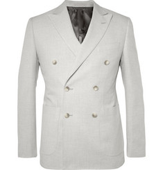Hardy Amies Double-Breasted Cotton Blazer