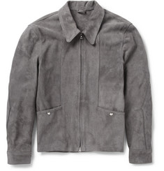 Our Legacy Slim-Fit Suede Bomber Jacket