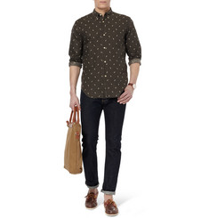 Our Legacy Lightning-Print Linen and Cotton-Blend Shirt