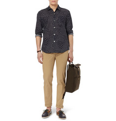 Our Legacy Six Frame Dot-Print Cotton-Poplin Shirt