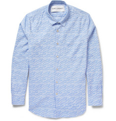 Our Legacy Wave-Patterned Jacquard Cotton Shirt