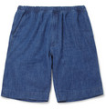 Our Legacy Regular-Fit Lightweight Washed-Denim Shorts