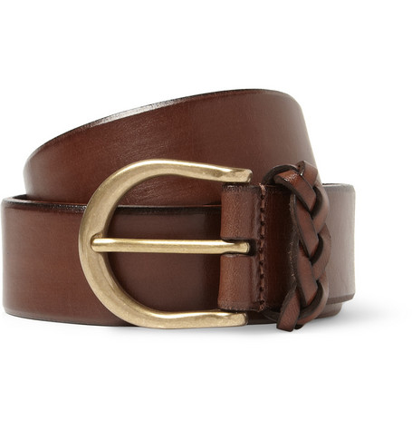 Anderson's Brown 3cm Leather Belt