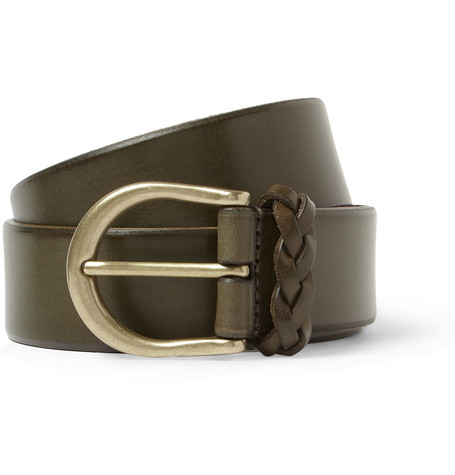 Anderson's Green 3.5cm Leather Belt
