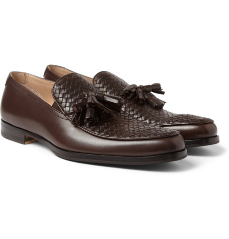 Mr. Hare Ganet II Woven-Panel Tassel Loafers