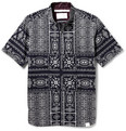 White Mountaineering Printed Cotton Button-Down Collar Shirt