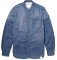 White Mountaineering Grandad-Collar Denim Shirt