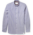White Mountaineering - Striped Button-Down Collar Cotton-Piqué Shirt