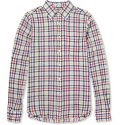Gant Rugger Check Cotton and Linen-Blend Shirt