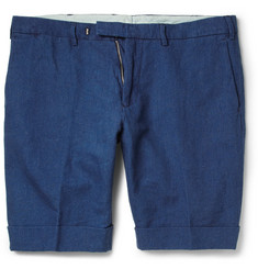Gant Rugger Turn Up Linen and Cotton-Blend Shorts