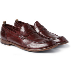 Officine Creative Anatomia High-Shine Leather Penny Loafers