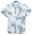 Saturdays Surf NYC Esquina Printed Button-Down Collar Cotton-Poplin Shirt